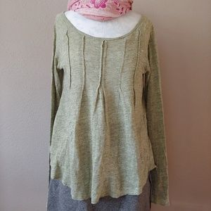 Sundance Perfectly Simple Linen Tunic Green